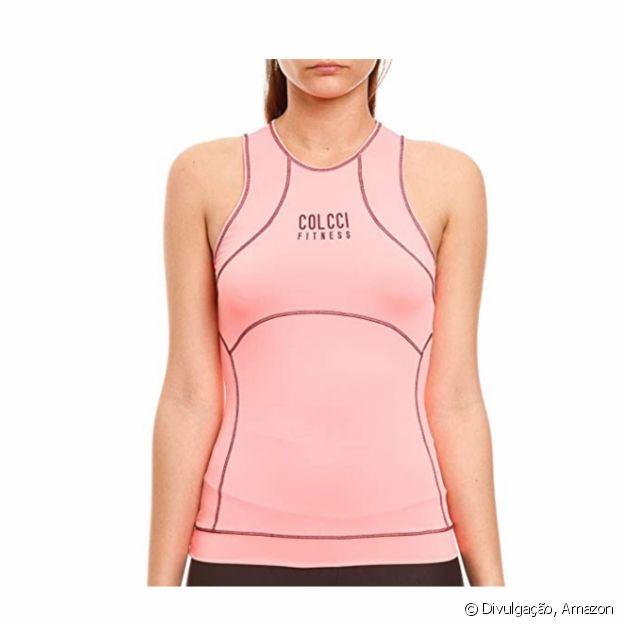 Blusa com costura contrastante, da Colcci Fitness