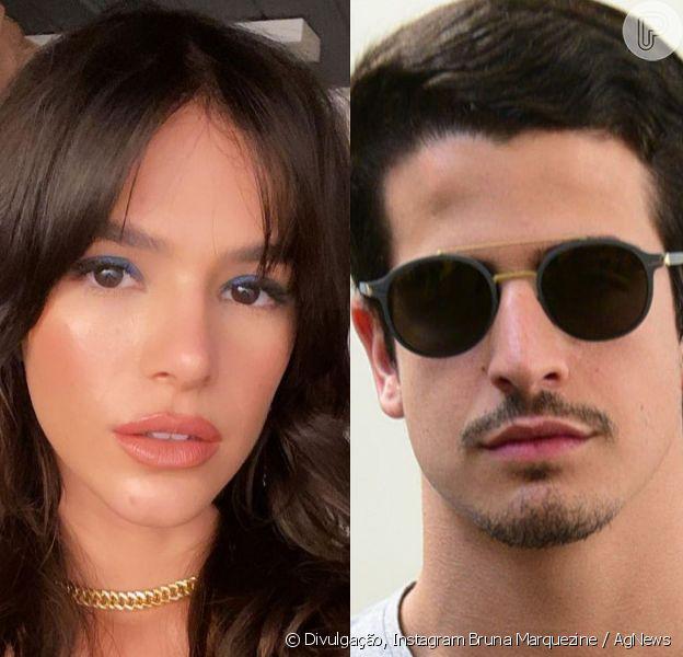 Bruna Marquezine e Enzo Celulari foram clicados por um fã em Alagoas