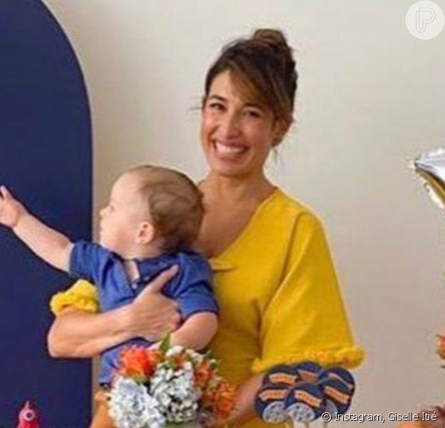 Filho de Giselle Itié e Guilherme Winter, Pedro Luna ganhou festa ao comemorar 1 ano