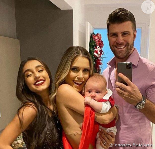 Marcelo Zangrandi reuniu a família, a mulher, Flavia Viana, o filho, Gabriel, e a mãe, Mariane