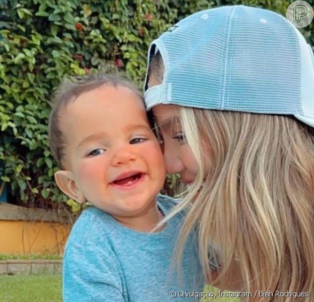 Mulher de Sorocaba, Biah Rodrigues comemora primeiros passos do filho, Theo, em 7 de março de 2021