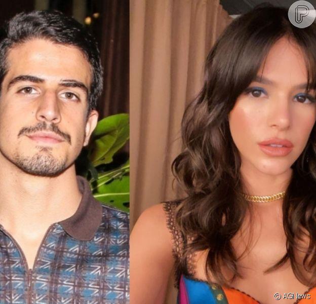 Bruna Marquezine posta foto beijando Enzo Celulari, e ele responde: