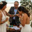 Cris Rozeira e Ana Paula Garcia se casaram em cerimônia íntima em Ilha Bela, São Paulo, em agosto de 2020
