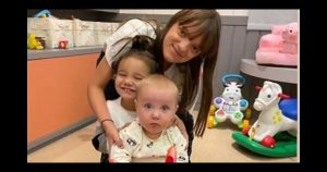 Fofura em dose tripla: Rafa Justus mostra encontro com irmãs Vicky e Manuella.